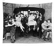 Silent Film Still: Parties Tapestry