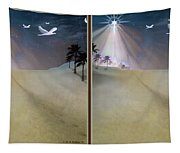 Silent Night - Gently Cross Your Eyes And Focus On The Middle Image Tapestry