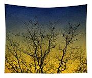 Silhouette Birds Sequel Tapestry