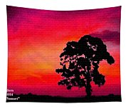 Silhouette Sunset H A Tapestry