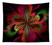 Silk Butterfly Abstract Tapestry