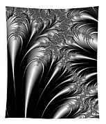 Silver And Black Abstract Tapestry