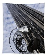 Silver And Blue Planet Earth Tapestry