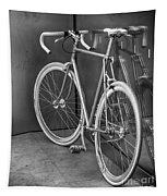 Silver Bike Bw Tapestry