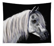 Grey Arabian Mare Painting Tapestry