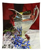 Silver Pitcher And Bluebonnet Tapestry