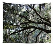 Silver Savannah Tree Tapestry