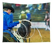 Silver Spurs Rodeo Outrider Tapestry
