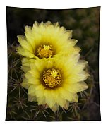 Simply Golden Cactus Flowers  Tapestry