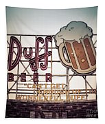 Simpsons Duff Beer Neon Sign Tapestry by Edward Fielding