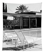 Sinatra Pool Bw Palm Springs Tapestry