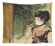 Singer In A Cafe Concert Tapestry
