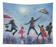Singing In The Rain Super Hero Kids Tapestry