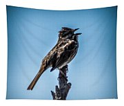 Singing Song Sparrow Tapestry