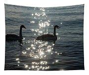 Singing Trumpeter Swans Duet  Tapestry