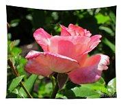 Single Pink Rose Tapestry