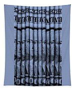 Singles In Cyan  Tapestry