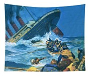 Sinking Of The Titanic Tapestry