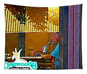Sipping A Seven Up At Dagwoods Window Seat At The Sandwich Shop Montreal Summer Scene Carole Spandau Tapestry