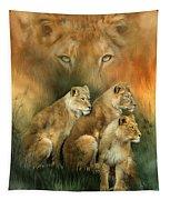 Sisterhood Of The Lions Tapestry