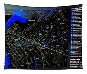 Sites And Subways Tapestry