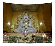 sitting Buddha made from one single marble block in KYAUKTAWGYI PAGODA Tapestry
