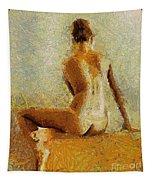 Sitting Nude II Tapestry