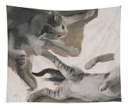 Sketches Of A Kitten Tapestry
