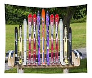 Ski Bench - Fort Foster - Maine Tapestry