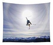 Skier Jumping, Courtenay, Bc Tapestry