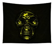 Skull In Yellow Tapestry