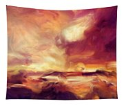 Sky Fire Abstract Realism Tapestry