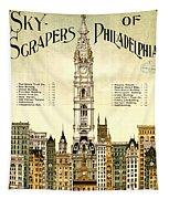 Sky Scrapers Of Philadelphia 1896 Tapestry