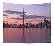 Skyline At Dusk From Centre Island Tapestry