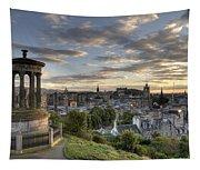 Skyline Of Edinburgh Scotland Tapestry