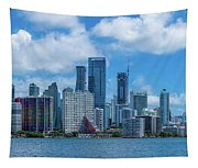 Skylines At The Waterfront, Miami Tapestry