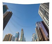 Skyscrapers Along Sheikh Zayed Road Tapestry