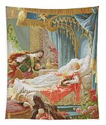 Sleeping Beauty And Prince Charming Tapestry