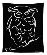 Sleepy Owl Tapestry