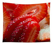 Sliced Strawberries Tapestry