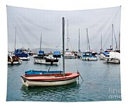 Small Boats At Lyme Regis Harbour Tapestry