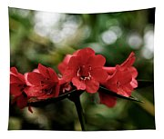 Small Red Flowers Tapestry