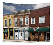 Small Town Main Street Shops Tapestry