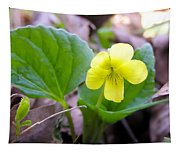 Small Yellow Violet Tapestry