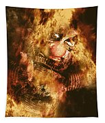 Smoky The Voodoo Clown Doll  Tapestry