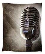 Smoky Vintage Microphone Tapestry