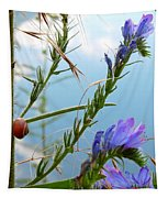 Snail On Flowers Tapestry