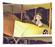 Snoopy In His Biplane Tapestry