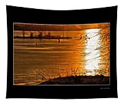 Snow And Ice Sunset Tapestry