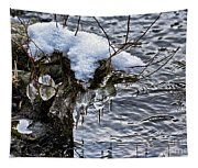 Snow And Icicles No. 2 Tapestry